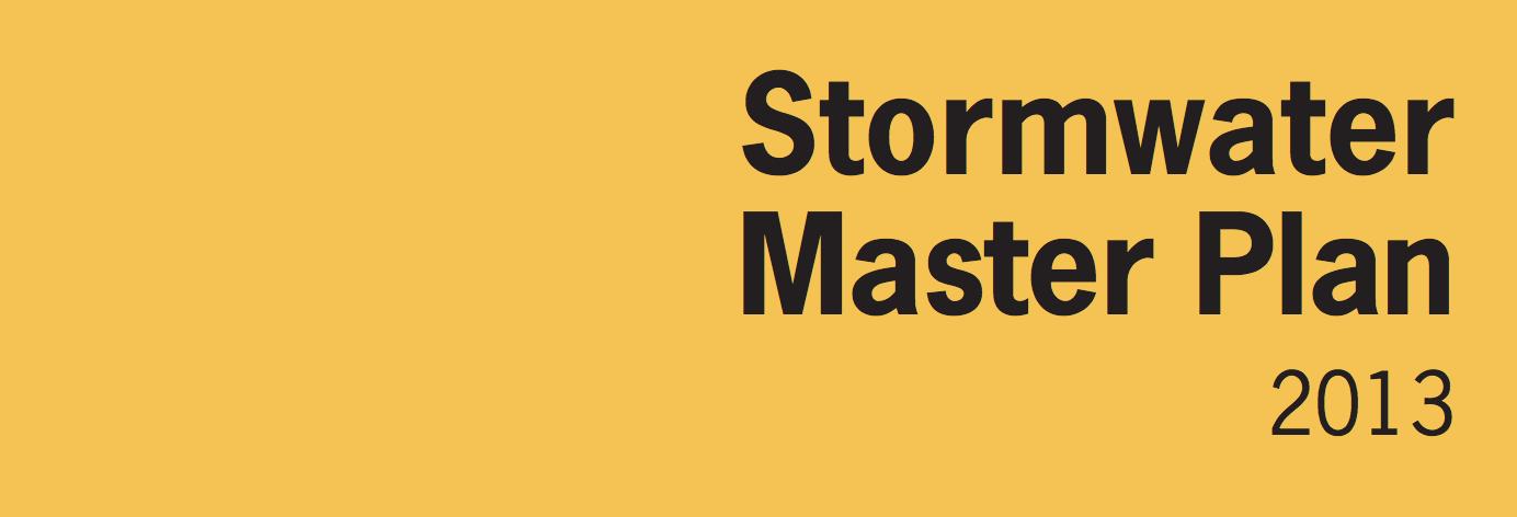 Stormwater Master Plan 2013